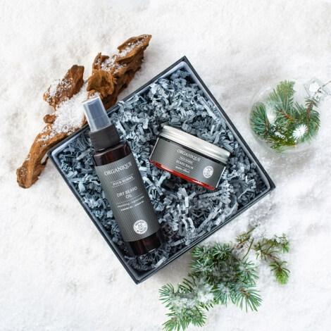 Kosmetyki dla taty, prezent dla taty na święta, kosmetyki w pudełku, zestaw kosmetyków Organique
